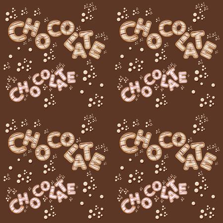 cioccolato bianco senza soluzione di continuità divertente kids design lettere 3d