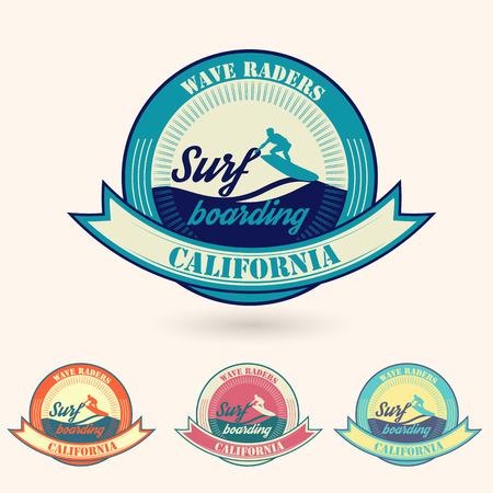 malibu: retro vintage summer California surfing logo  for t-shirt or poster design