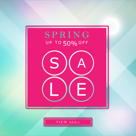 50  off: spring up to 50 off sale banner bright background poster