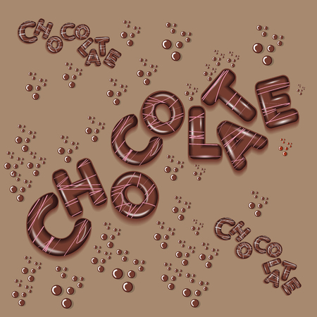 dark chocolate funny kids design 3d letters
