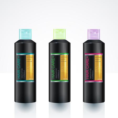 conception d'emballage de beauté modèles de bouteilles de gel soin du corps shampooing douche