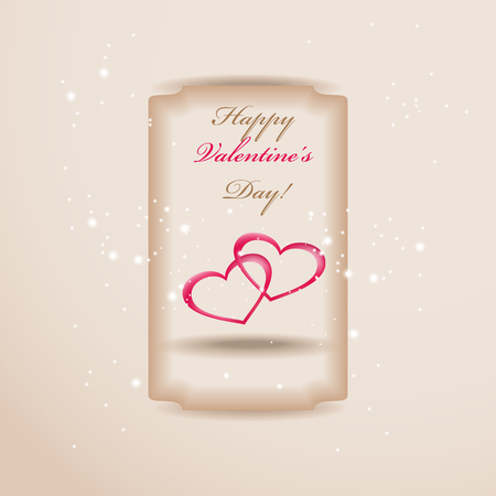 ard: wedding invitation or greeting valentine day ard with heart decoration Illustration