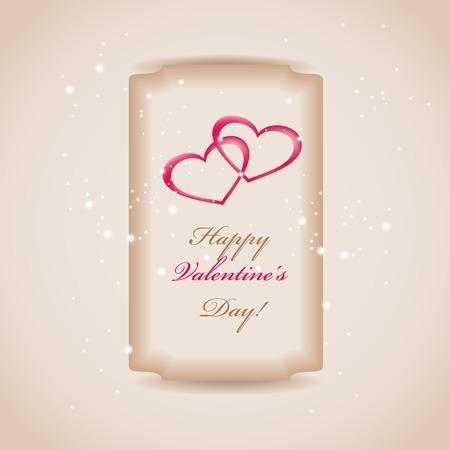 ard: wedding invitation or greeting valentine day ard with heart decoration Illustration