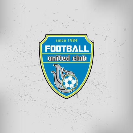 collegiate: Soccer Football team Badge Logo Emblem Design Templates Illustration