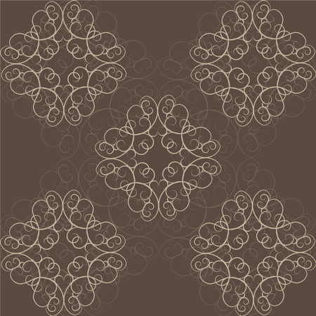 orient: Abstract Ethnic Victorian Orient Ethnic Pattern Background Illustration