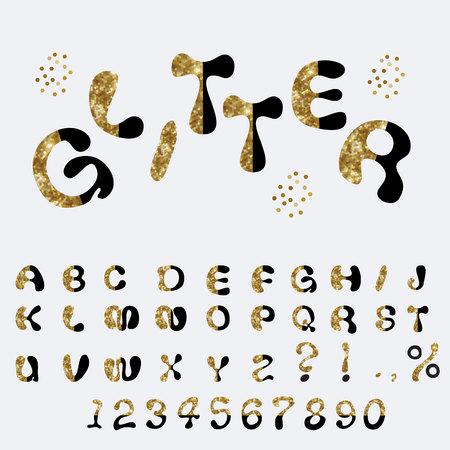 custom letters: Glitter Alphabet Custom Characters Cute Font Comic Letters