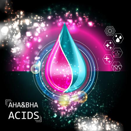 AHA BHA Acid Oil Serum Essence 3D Droplet