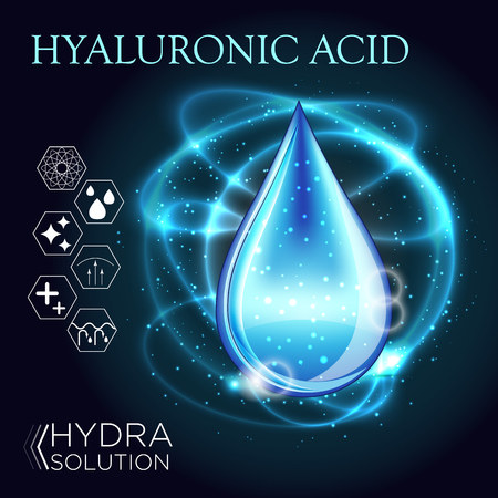 Acide Hyaluronique Huile Sérum Essence 3D Droplet Banque d'images - 71137277