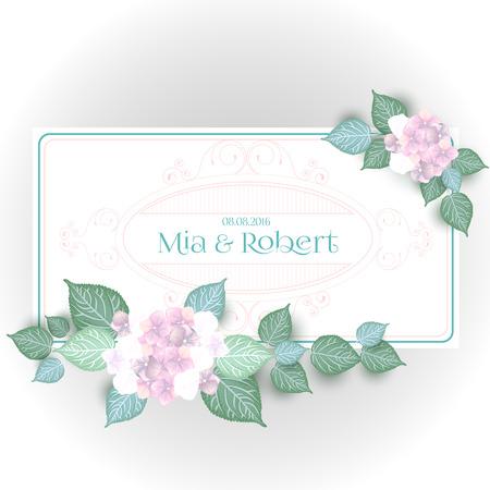 Vintage Flower wedding invitation save the date card Illustration