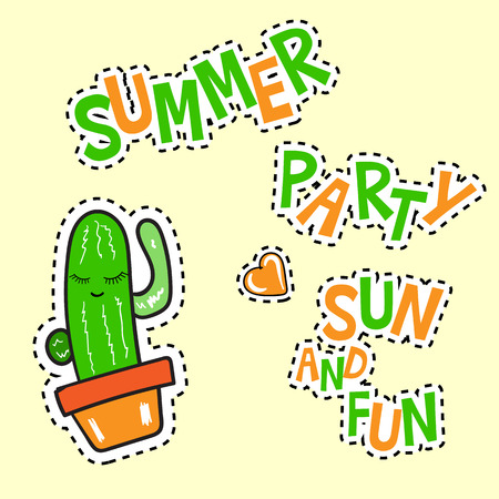 summer party sun and fun poster
