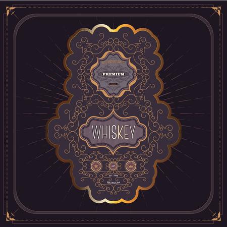 Vintage western whiskey label package.