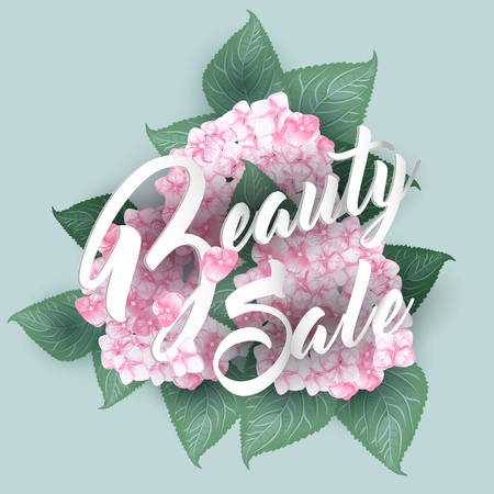 Hydrangea with Summer sale lettering