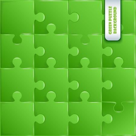 green plastic pieces puzzle game