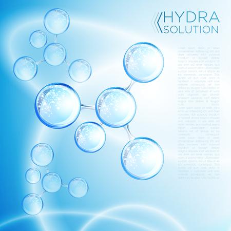 Projekt kwasu hialuronowego lub abstrakcyjnych cząsteczek