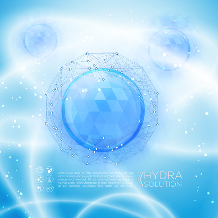 Hyaluronic acid or abstract molecules design