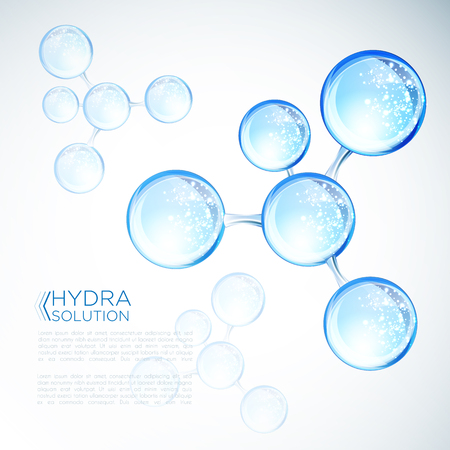 Ácido hialurónico o diseño de moléculas abstractas. Ilustración de vector