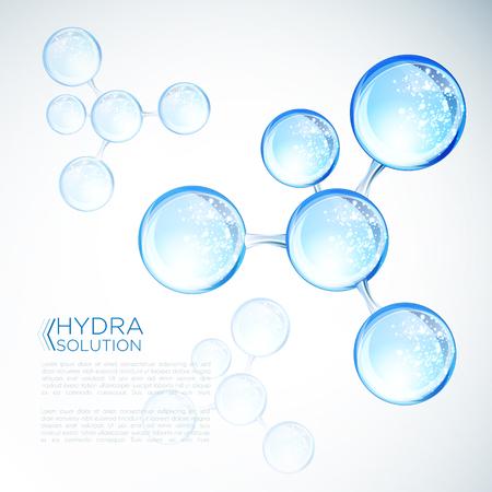 Hyaluronzuur of abstract moleculenontwerp Vector Illustratie