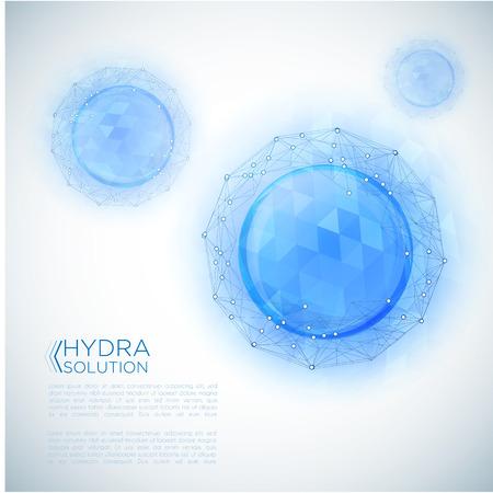 Ácido hialurónico o diseño de moléculas abstractas.