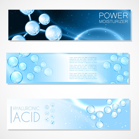 Hyaluronic acid or abstract chemical molecules science design