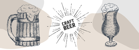 Beer graphical objects used for beer festival, brewery, bar or pub.