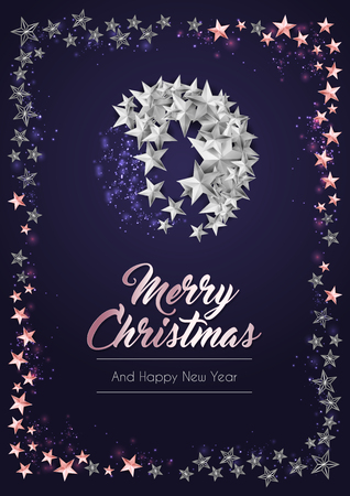 Christmas Poster or Card Template with Star Ball