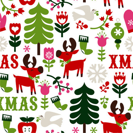 novelty: This Nordic Christmas Seamless Pattern Background is a illustration novelty print that can be tiled seamlessly.