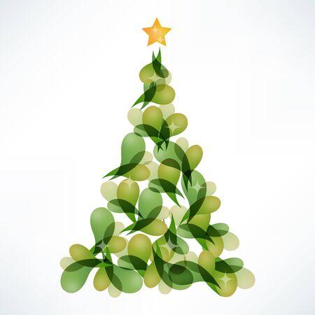blending: A illustration of modern stylized color blending Christmas tree. Illustration