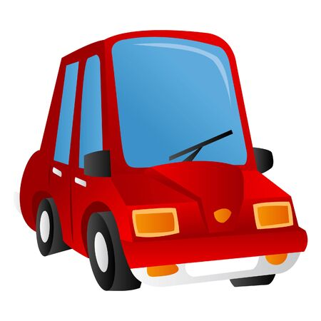 wiper: A cartoon illustration of a red car.