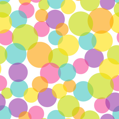 youthful: A illustration of semi transparent colorful pop bubble seamless pattern background.