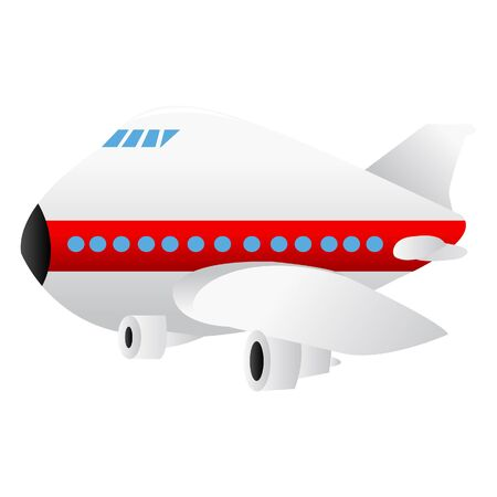 jumbo: A cartoon illustration of a jumbo jet airplane. Illustration