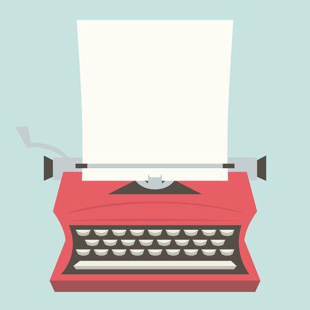 maquina de escribir: Un ejemplo de una máquina de escribir de la vendimia con un papel en blanco como espacio de copia.