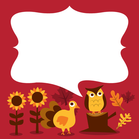fall harvest: A vector illustration of retro fall harvest with blank message copy space.
