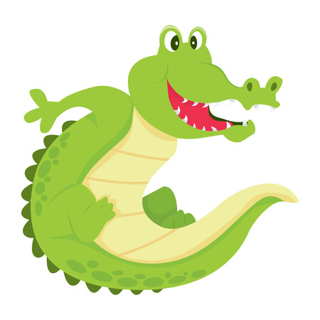 animal themes: A cartoon vector illustration of an alligator