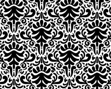 descriptive colour: A vector illustration of modern damask seamless pattern (tileable). Illustration