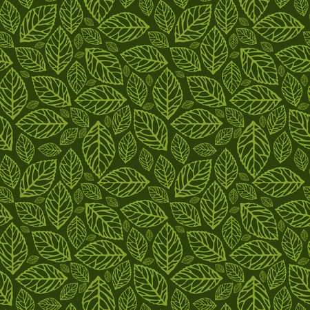 A vector illustration seamlesstileable pattern of filigree leaves.