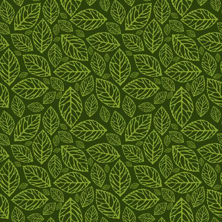 formal garden: A vector illustration seamlesstileable pattern of filigree leaves.