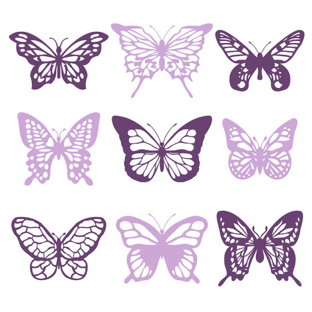 butterfly vector: A vector illustration of intricate lace like butterflies filigree.