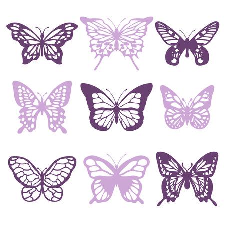 papillon: Une illustration de vecteur de la dentelle complexes comme des papillons en filigrane.