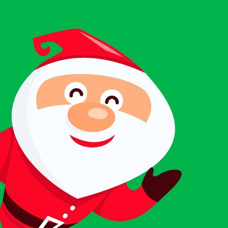 smilling: A vector illustration of a cute cartoon smilling santa claus.