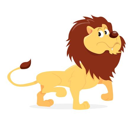 lion vector: A cartoon vector illustration of a proud looking lion. Illustration