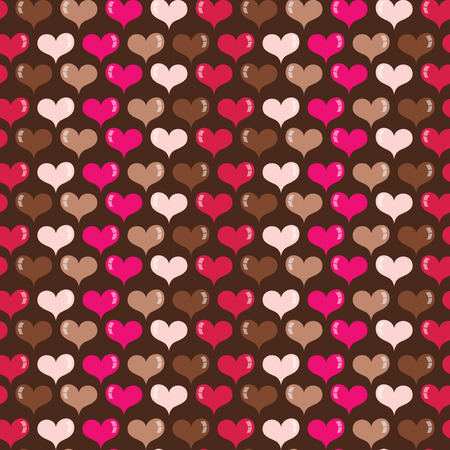 vector hearts: A whimsical vector illustration of hearts seamless pattern background.