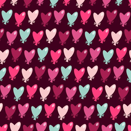 whimsical pattern: A vector illustration of a whimsical heart shaped balloons seamless pattern background.