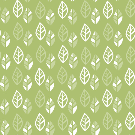 A vector illustration of retro 70s inspired leaves seamless pattern background. Ilustracja