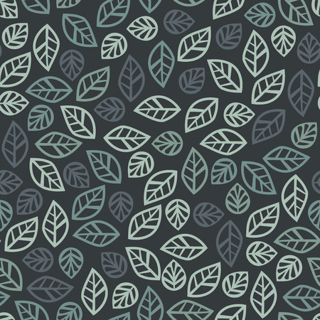 modifiable: A vector illustration of random filigree leaves seamless pattern background. This pattern is easily tileable and color modifiable. Ideal for home decoration application.
