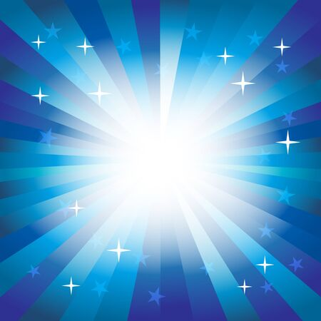feature: A vector illustration of blue spectrum starburst background which glows in the center. Suitable as a background to feature a product. Illustration