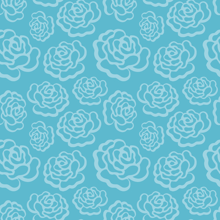 A vector illustration of rose filigree seamless pattern background.