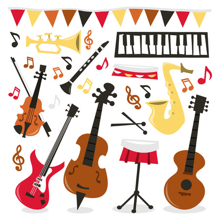 A vector illustration illustration of a fun and musical party.
