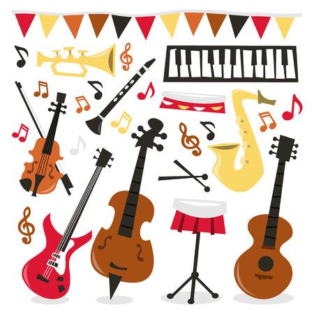 pandero: Una ilustración ilustración vectorial de una diversión y fiesta musical.