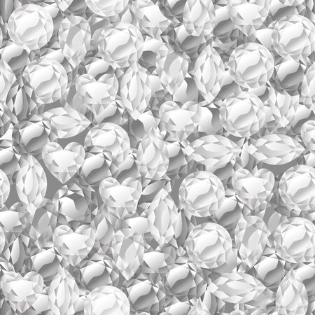abundance: A vector illustration of diamonds in abundance background. Illustration