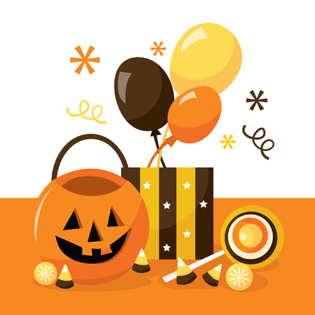 A vector illustration of halloween treats. Illustration